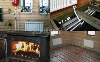 Отопление в бане: необходимость и варианты эффективных систем обогрева