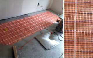 Монтаж электрического теплого пола под плитку: толщина и устройство