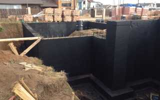 Устройство гидроизоляции фундамента, подвала и цокольного помещения