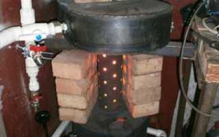 Печь на отработке: как сделать печку с водяным контуром своими руками