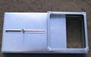 Шиберная задвижка для вентиляции, дымохода и воздуховода