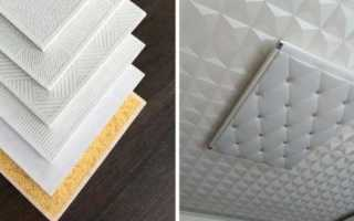 Потолочная плитка из пенополистирола: техника установки, преимущества и недостатки
