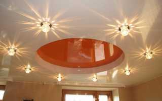 Точечное освещение натяжных потолков: варианты дизайна, особенности и организация