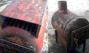 Печь из газового баллона: длительного горения, виды в баню и гараж, чертежи