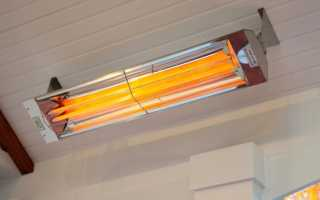 Инфракрасный потолочный обогреватель с терморегулятором для дачи и дома