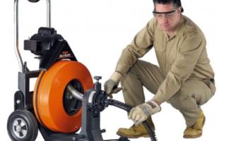 Оборудование для прочистки канализации: виды, конструкция, как выбрать и цена