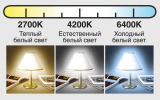 Холодный и теплый свет: разница между светодиодными лампами, что лучше для глаз