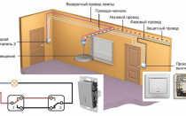 Схема подключения проходного выключателя на 3 точки: схема коммутации