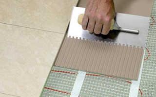 Теплый пол под плитку электрический своими руками: плюсы, технология укладки