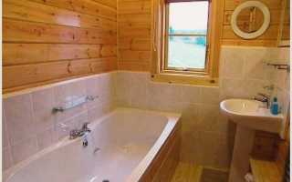 Как можно положить керамическую плитку в ванной в деревянном доме.