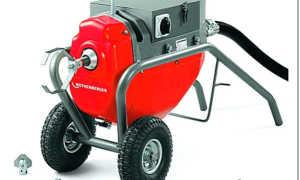 Машины для прочистки канализационных труб: виды, устройство, принцип действия и цена