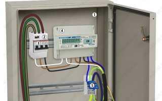 Проект электроснабжения частного дома 15 кВт 3 фазы: однолинейная схема щита