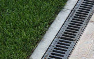 Водоотводный лоток с решеткой: сфера применения, устройство, материал изготовления и цена